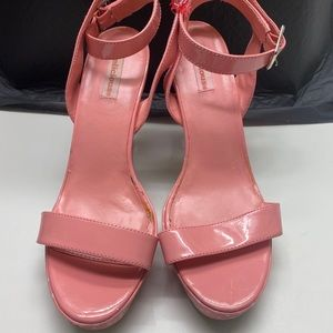 Pink &White Polka Patent Leather Heels